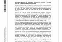 APROVACIÓ HABILITACIÓ EXCEPCIONAL I TEMPORAL ESPAI PRIVAT ESTACIONAMENT AUTOCARAVANES